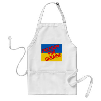 FREEDOM FOR UKRAINE with Flag Standard Apron