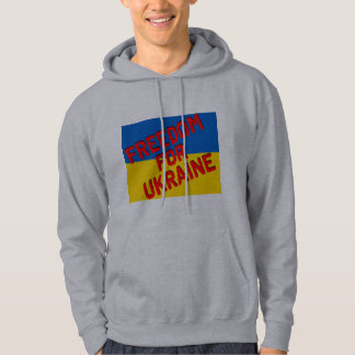 FREEDOM FOR UKRAINE with Flag Hoodie