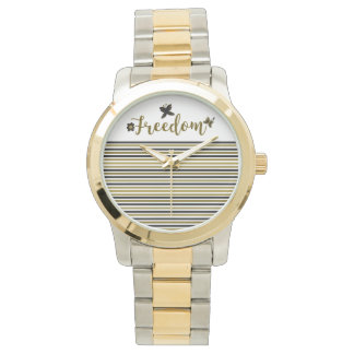 Freedom Golden Boho Spring Butterfly Stylish Chic Watch