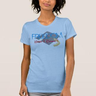 Freedom here I come funny graduation tshirt design