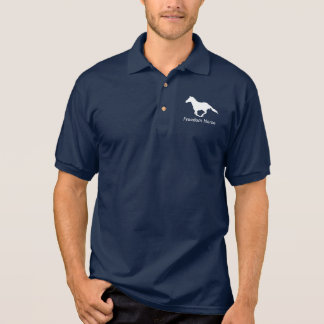 Freedom Horse White Graphic Polo Shirt