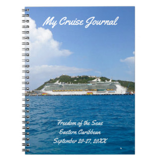 Freedom in St. Maarten Custom Cruise Journal Spiral Notebooks