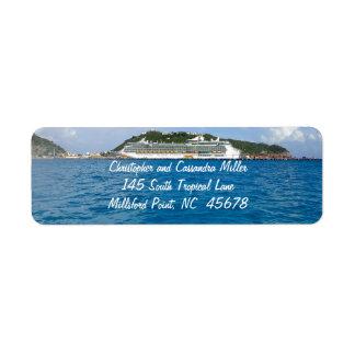 Freedom in St. Maarten Personalized Return Address Label