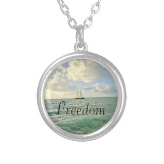 Freedom Intention Silver Plated Necklace