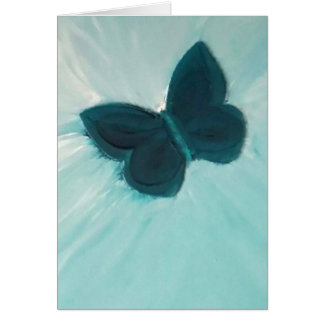 Freedom Is Mine turquoise butterfly blank card