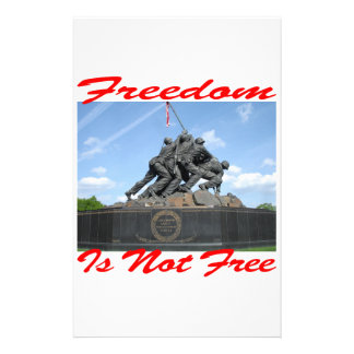 Freedom Is Not Free Personalized Stationery