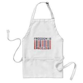 Freedom is Priceless Grunge Apron