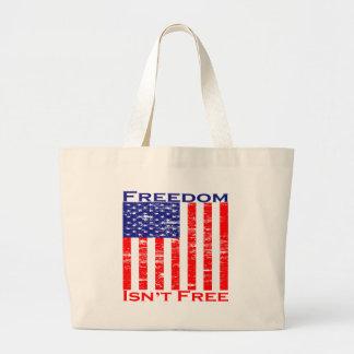 Freedom Isnt Free American Flag Tote Bag