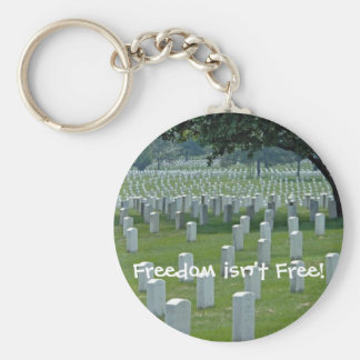 Freedom isn't Free! Basic Round Button Key Ring