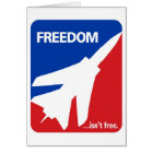 Freedom isn't Free Fighter Jet Card