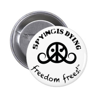 "Freedom logo button round 2 25"" SpyDieFree Buttons"