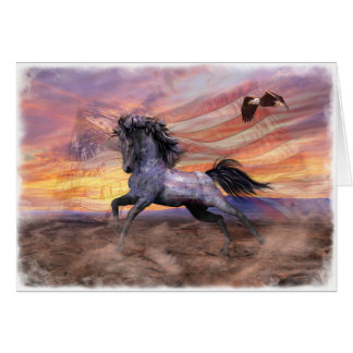 "Freedom Mustang 5""x7"" Card, wht envelopes incl Card"