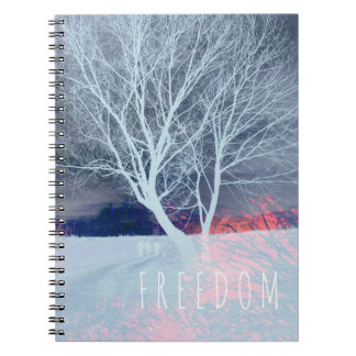 Freedom Notebook with white tree