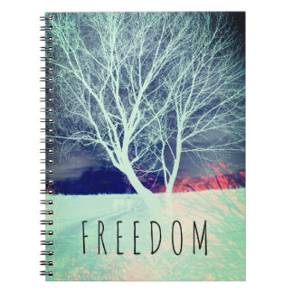 Freedom Notebook with wild tree.