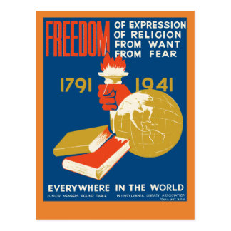 Freedom of Expression Postcard