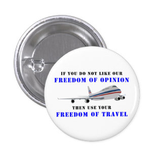 Freedom OF opinion and democracy 3 Cm Round Badge