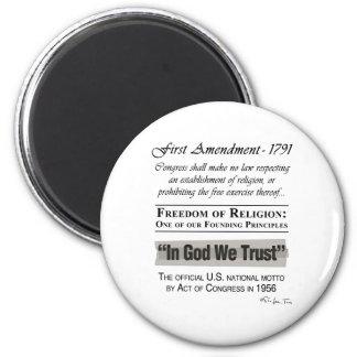 Freedom of Religion 6 Cm Round Magnet