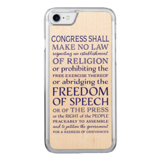 Freedom of Speech Carved iPhone 7 Case