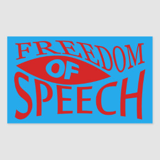 Freedom Of Speech - red 2 Rectangular Sticker