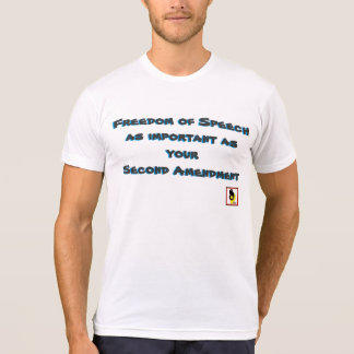 Freedom of Speech Shirt - Black Letters