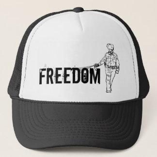 Freedom Pepper Spraying Cop Trucker Hat