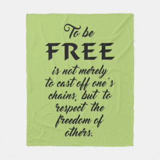 Freedom Quote custom color fleece blankets