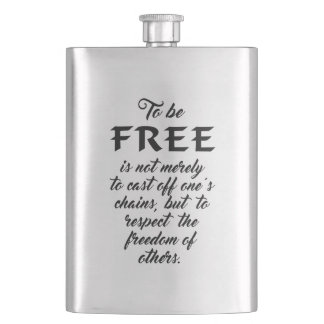 Freedom Quote flask