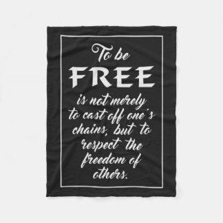 Freedom Quote fleece blankets