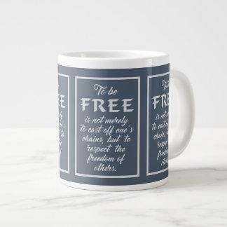 Freedom Quote jumbo mug
