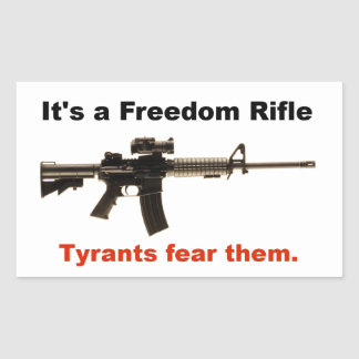 Freedom Rifle Rectangular Sticker