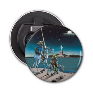 Freedom, Sancho,...  Don Quixote @QUIXOTEdotTV Bottle Opener
