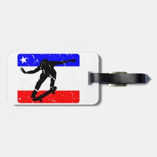 Freedom Skateboarding flair Luggage Tag