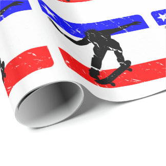 Freedom Skateboarding flair Wrapping Paper