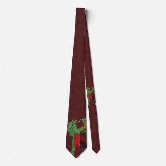 Freedom Statue Silhouette Neck Tie