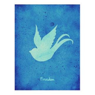Freedom swallow postcard