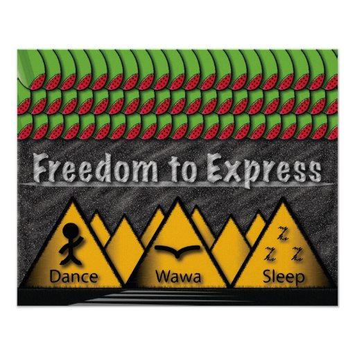 Freedom to Express Posters