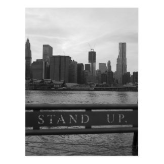 "Freedom Tower New York City - ""STAND UP "" Postcard"