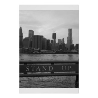 """Freedom Tower New York City - """"STAND UP"""" Poster"""