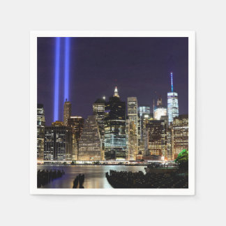 Freedom Tower with Tribute in Light Paper Napkins