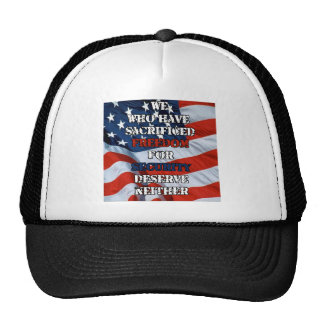 Freedom vs Security Trucker Hat