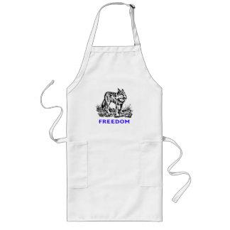 Freedom - wolf in wilderness apron