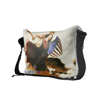 freedom, woman, wornfoot, american, eagle courier bag
