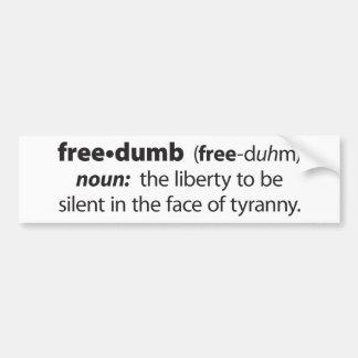 Freedumb Bumper Sticker