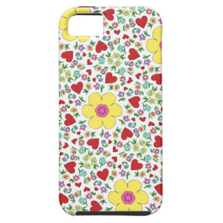 Freehand flowers and hearts iPhone 5 cases