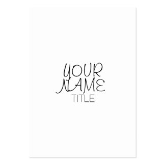 Freehand Simple Plain Pack Of Chubby Business Cards
