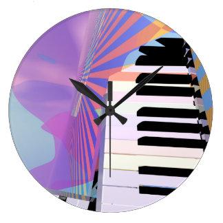 Freeing Keyboard Music Wall Clocks
