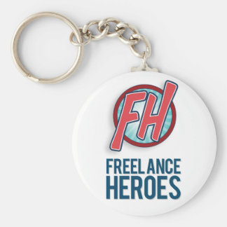 Freelance Heroes Key Ring Basic Round Button Key Ring