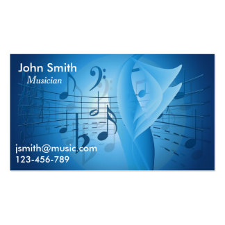 Freelance Musician session musician Music Business Card Template