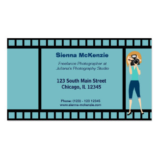 Freelance Photographer Pack Of Standard Business Cards