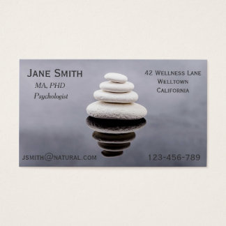 Freelance Psychologist Therapist Zen stones
